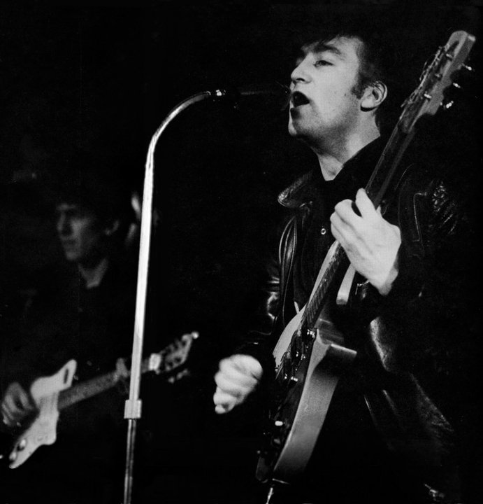 John and George early days of Beatles